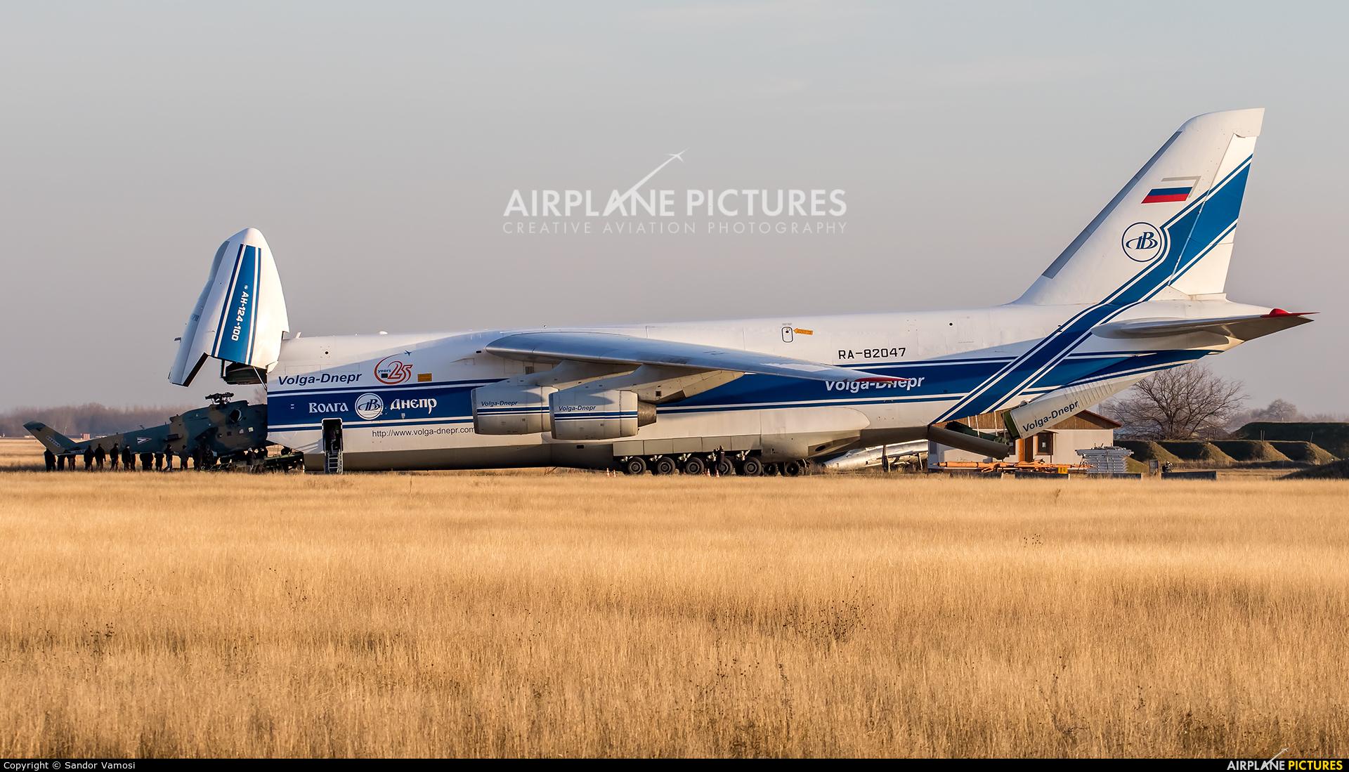 Volga Dnepr Airlines RA-82047 aircraft at Kecskemét