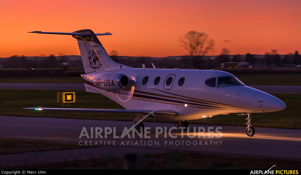 Business Jet Travel UR-USA aircraft at Augsburg
