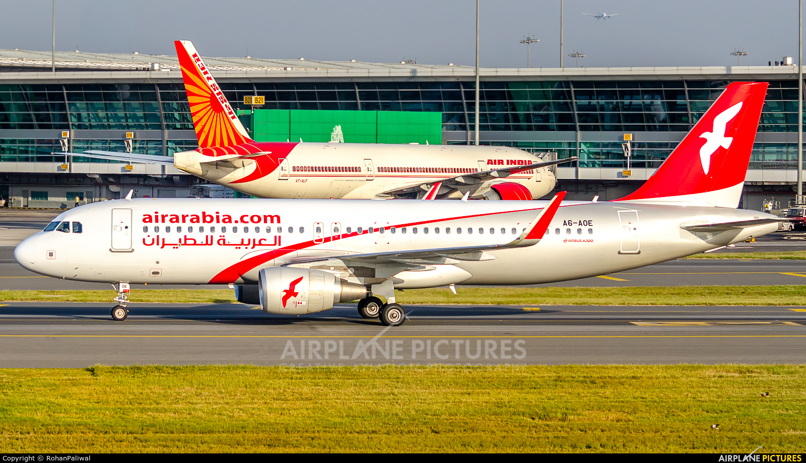 Air Arabia A6-AOE aircraft at Delhi - Indira Gandhi Intl