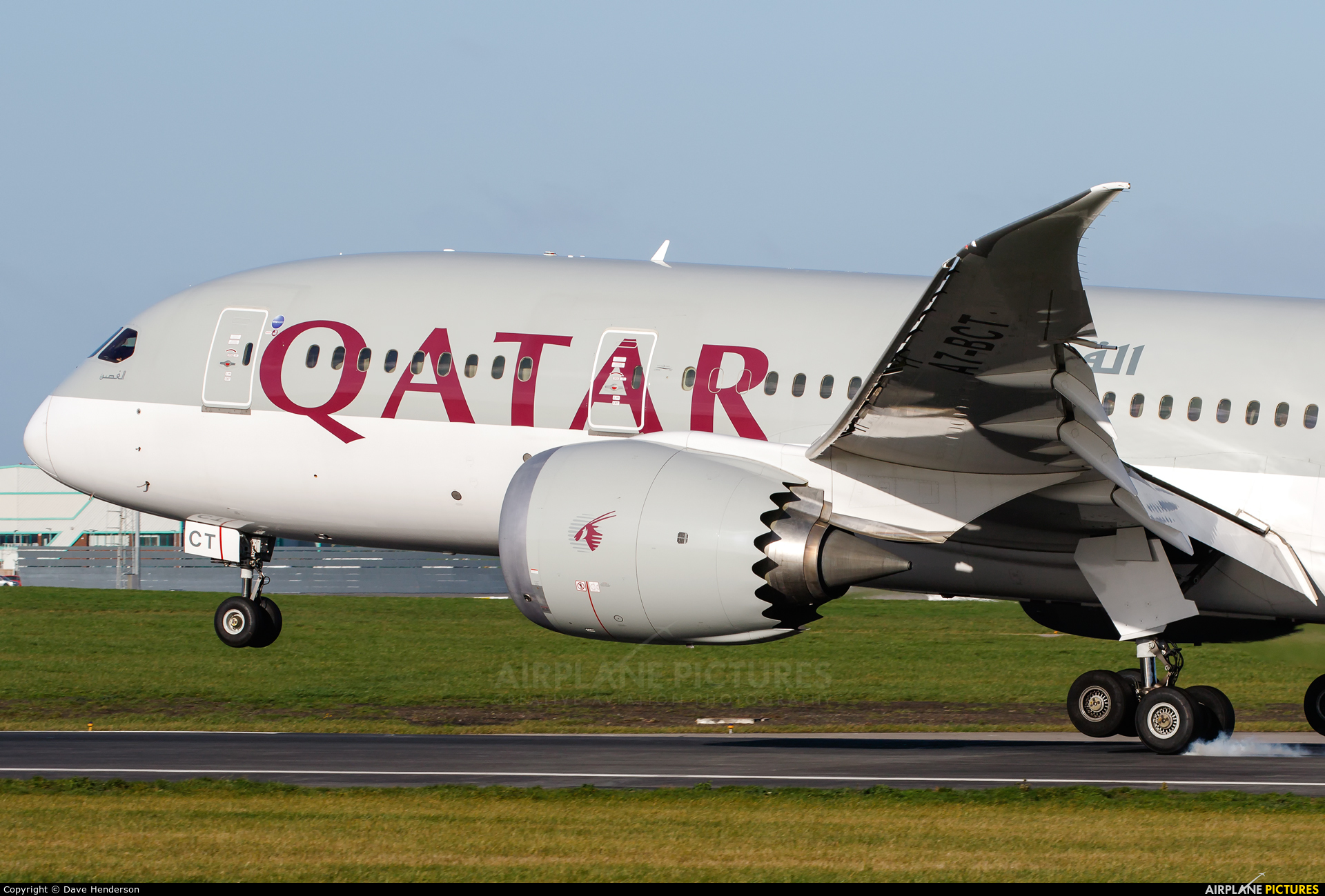 Qatar Airways A7-BCT aircraft at Dublin