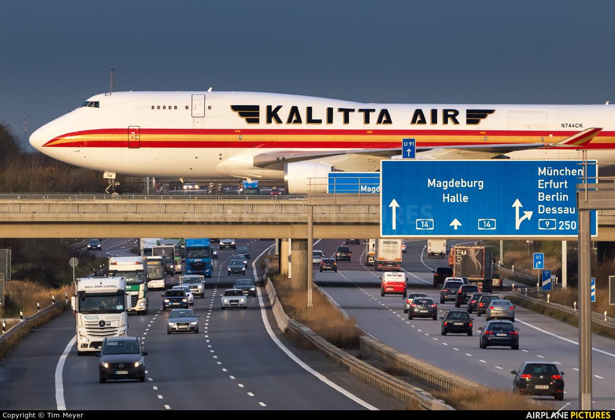 Kalitta Air N744CK aircraft at Leipzig - Halle