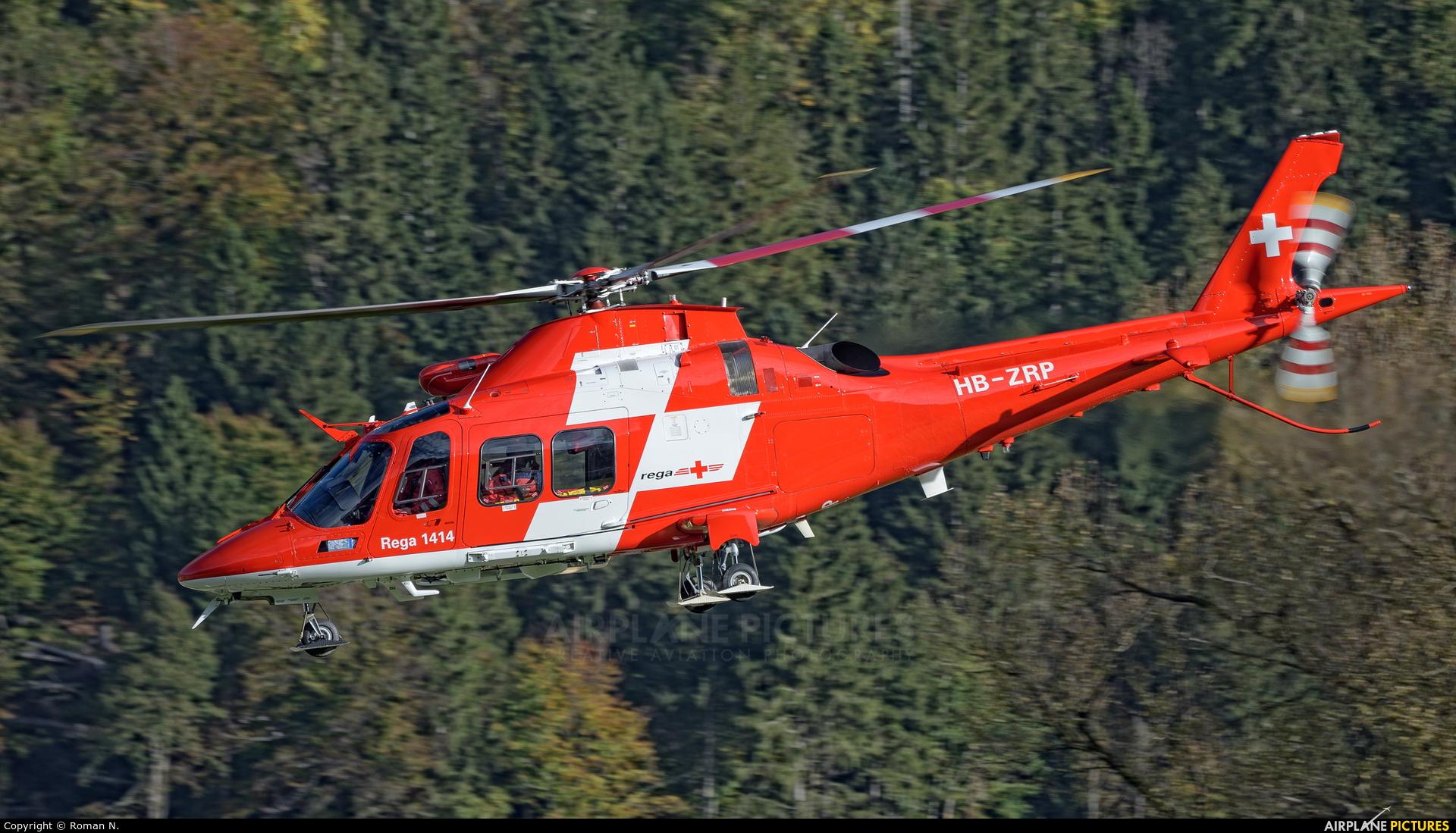 REGA Swiss Air Ambulance  HB-ZRP aircraft at Meiringen