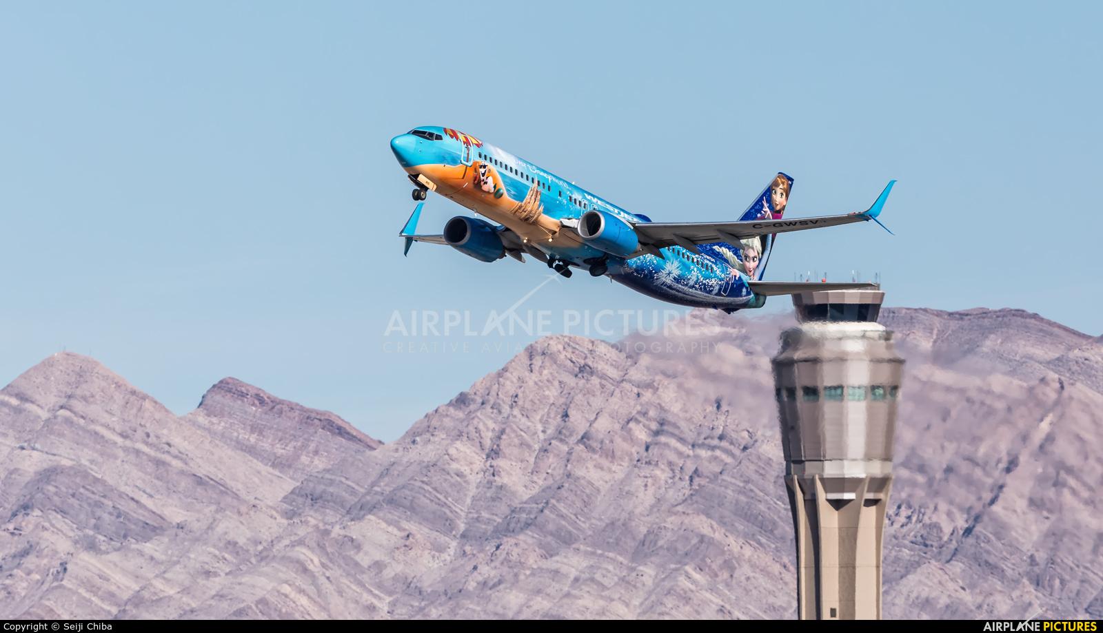 WestJet Airlines C-GWSV aircraft at Las Vegas - McCarran Intl