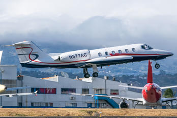 N577AC - Private Learjet 35