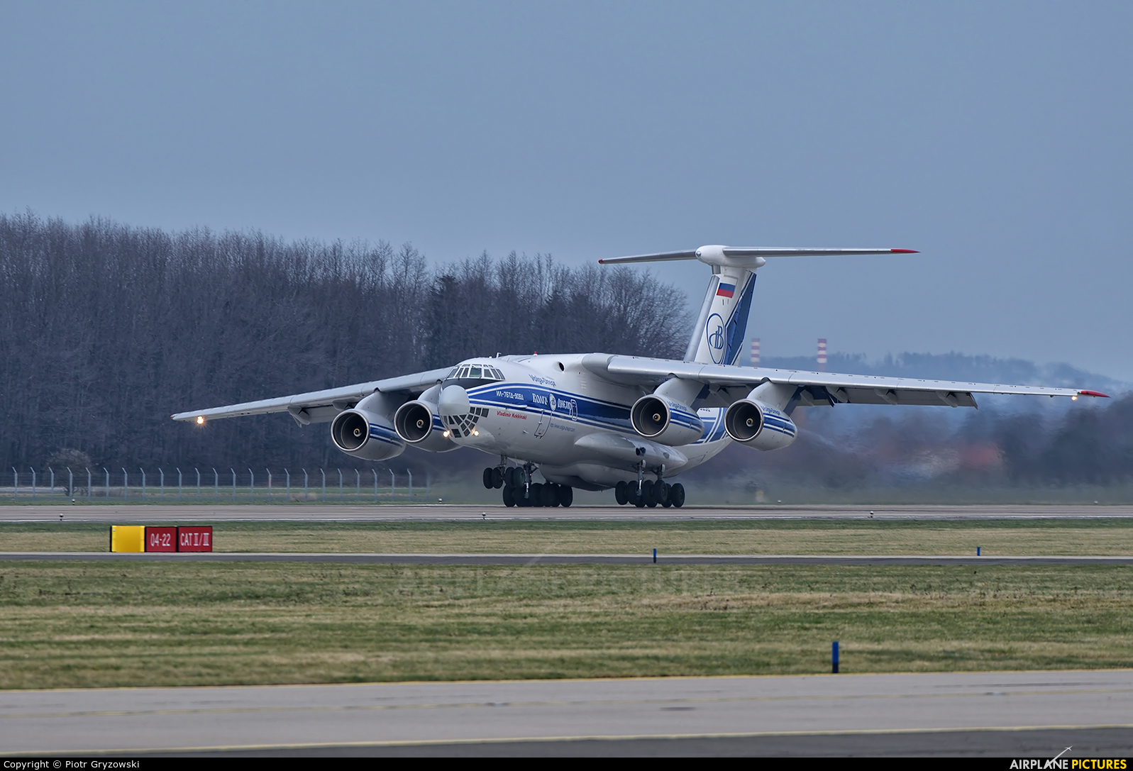 Volga Dnepr Airlines RA-76950 aircraft at Ostrava Mošnov