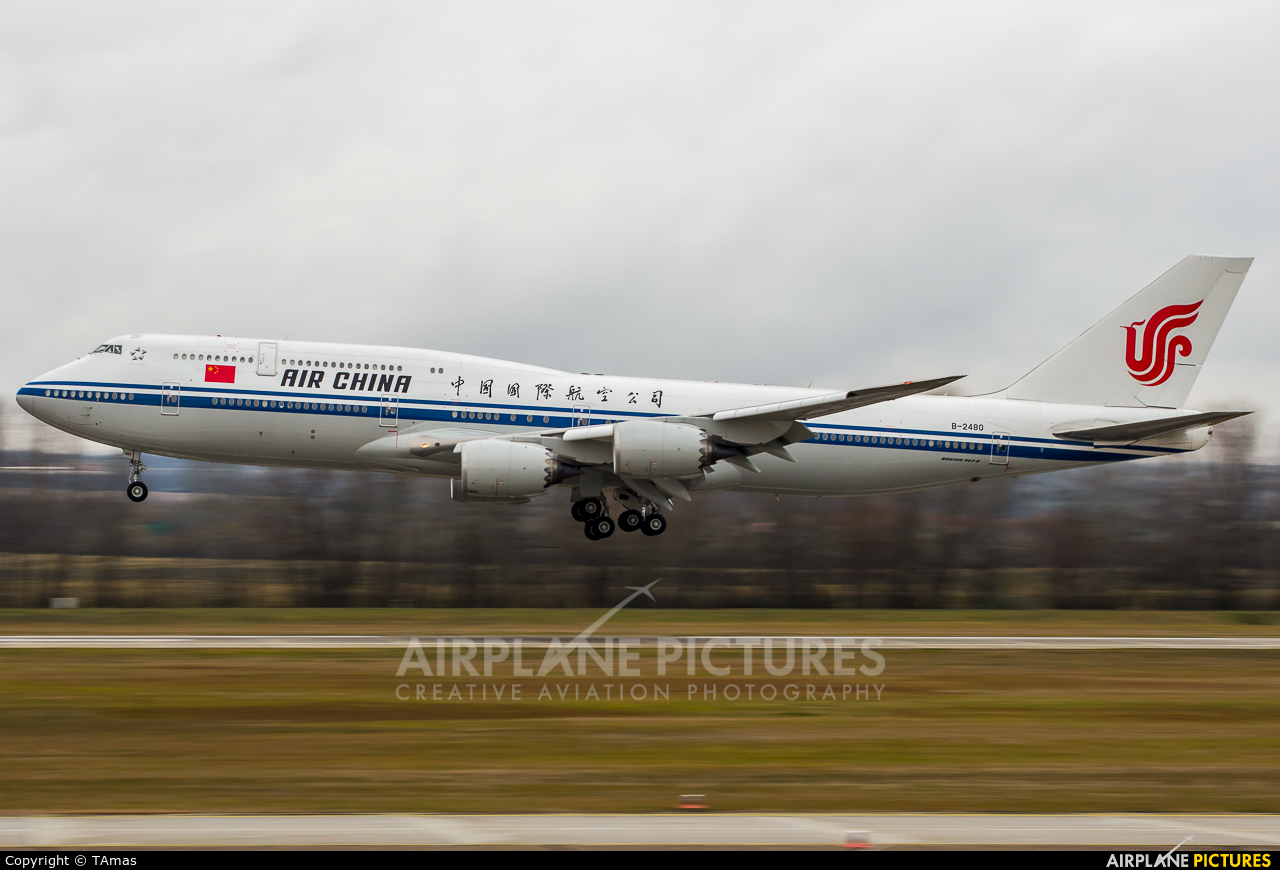 Air China B-2480 aircraft at Budapest Ferenc Liszt International Airport