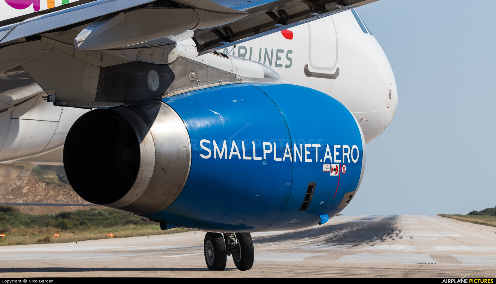 Small Planet Airlines SP-HAH aircraft at Skiathos