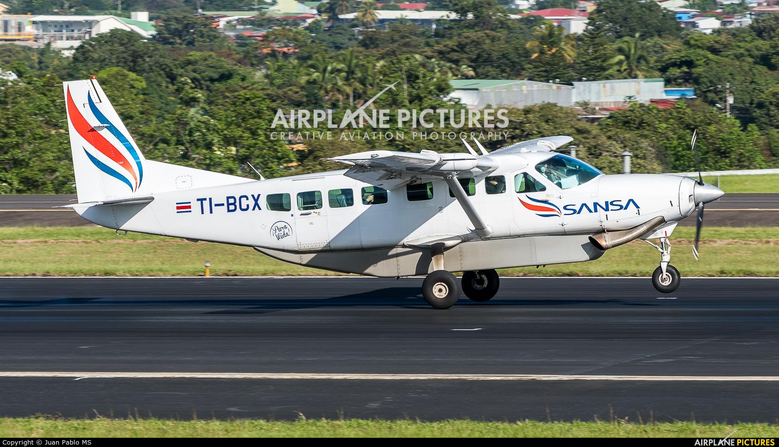 Sansa Airlines TI-BCX aircraft at San Jose - Juan Santamaría Intl
