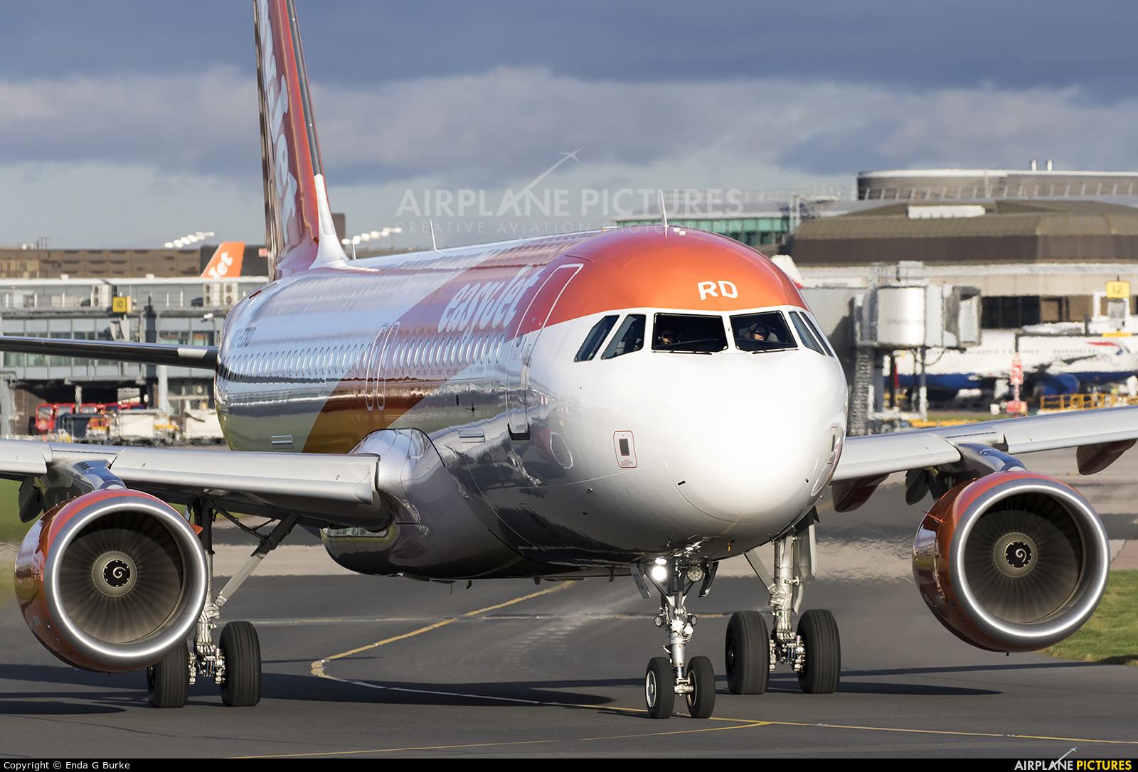 easyJet G-EZRD aircraft at Manchester
