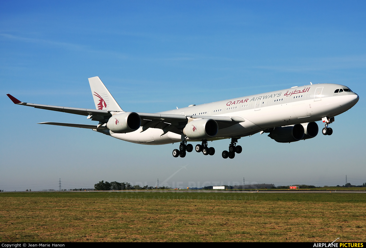 Qatar Amiri Flight A7-HHH aircraft at Liège-Bierset