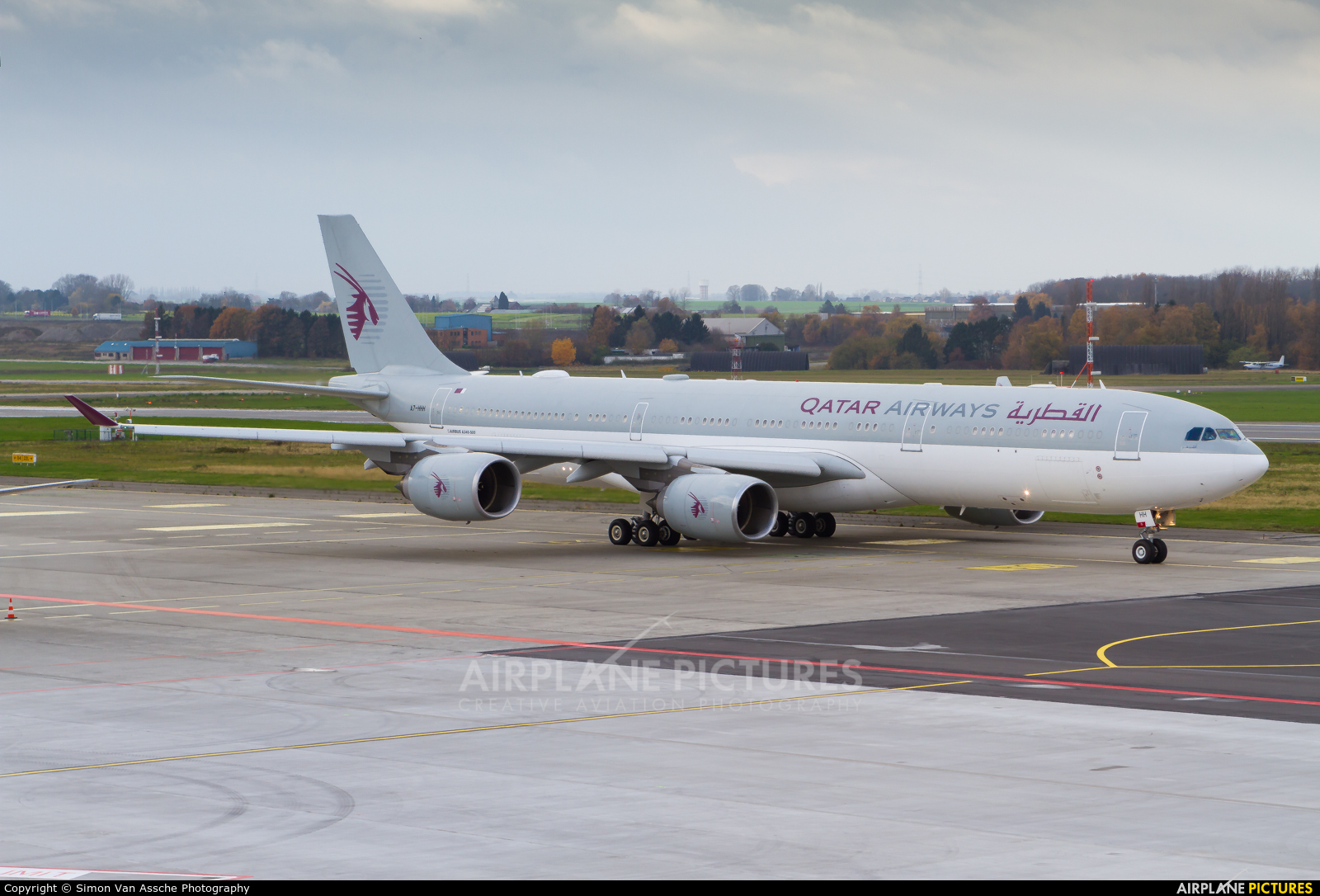 Qatar Amiri Flight A7-HHH aircraft at Liège-Bierset