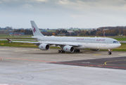 Rare visit of Qatar Amiri A340-500 to Liege title=