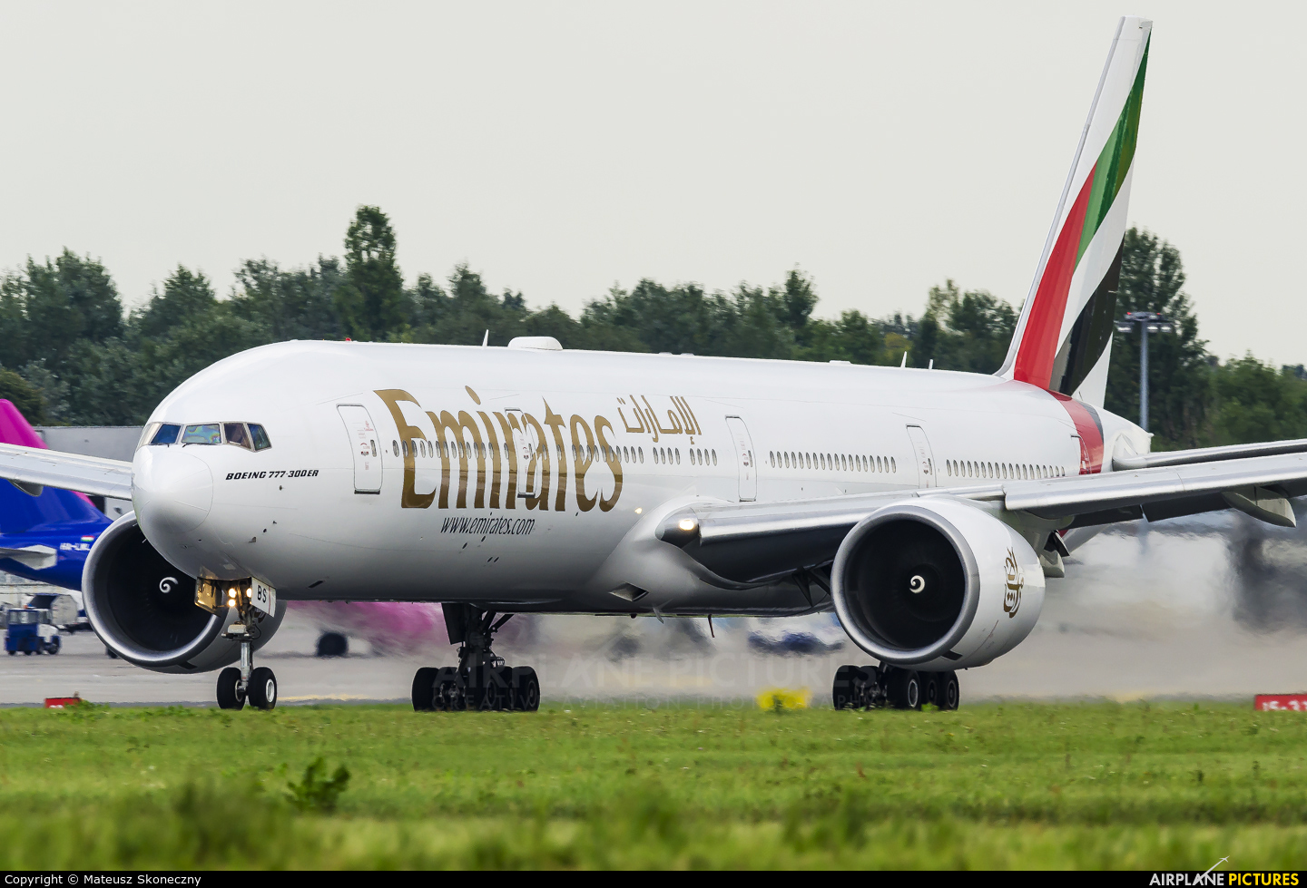 Emirates Airlines A6-EBS aircraft at Warsaw - Frederic Chopin