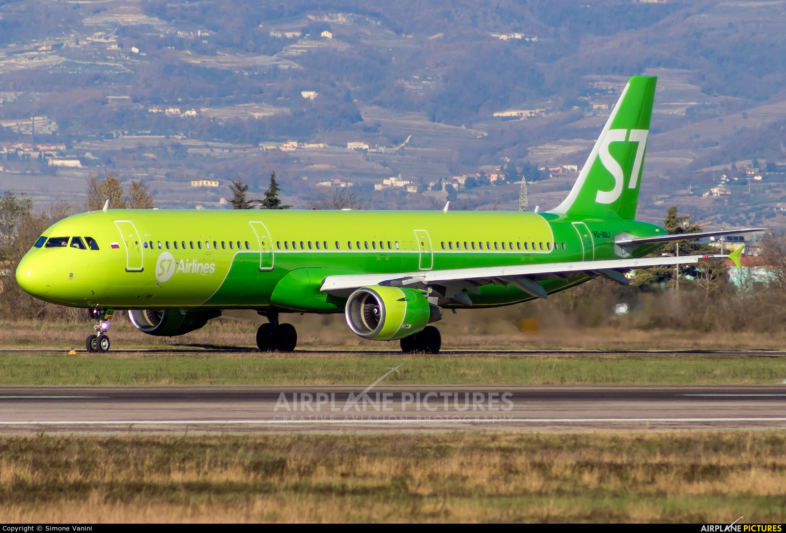 S7 Airlines VQ-BQJ aircraft at Verona - Villafranca
