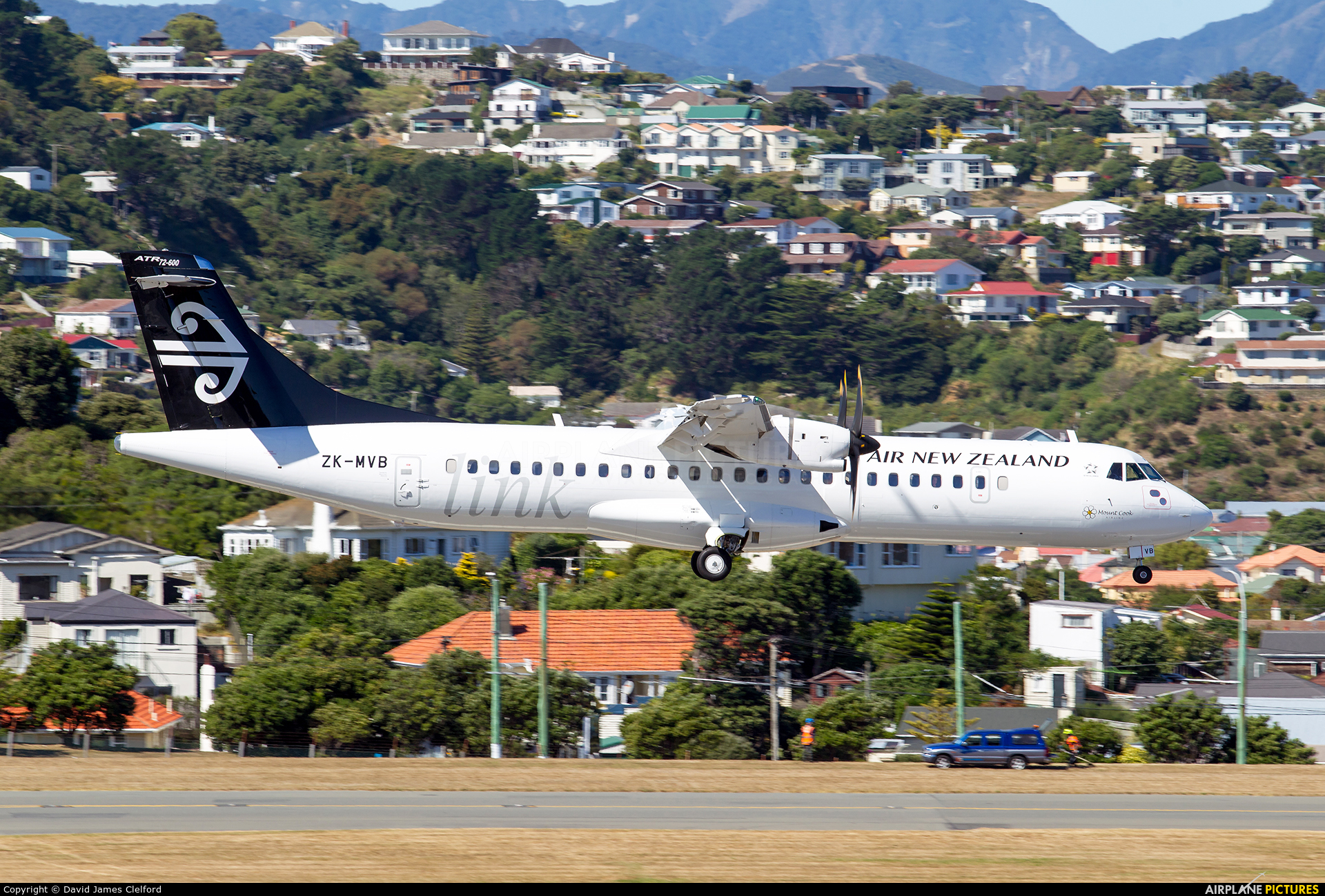 Air New Zealand Link - Mount Cook Airline ZK-MVB aircraft at Wellington Intl