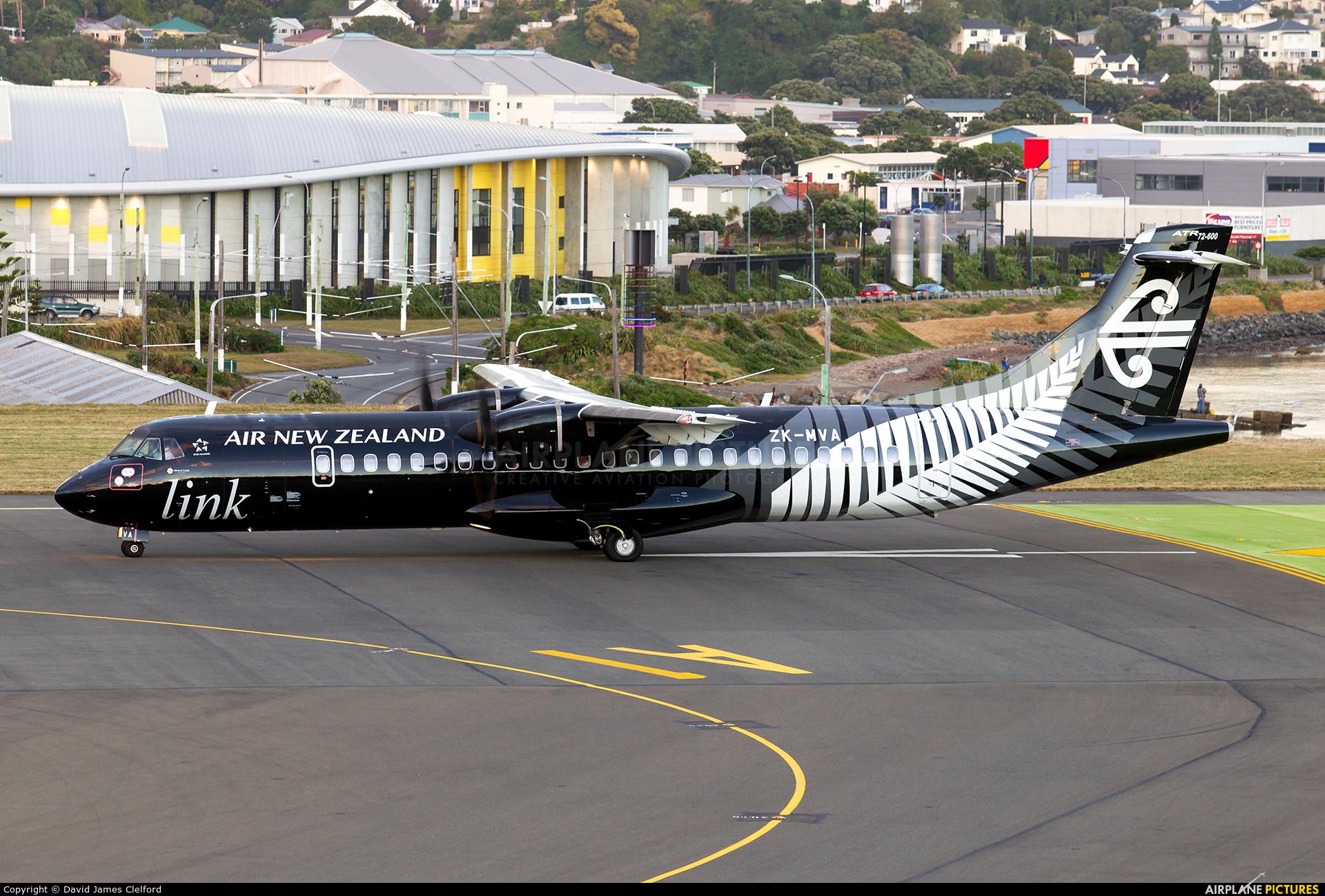 Air New Zealand Link - Mount Cook Airline ZK-MVA aircraft at Wellington Intl