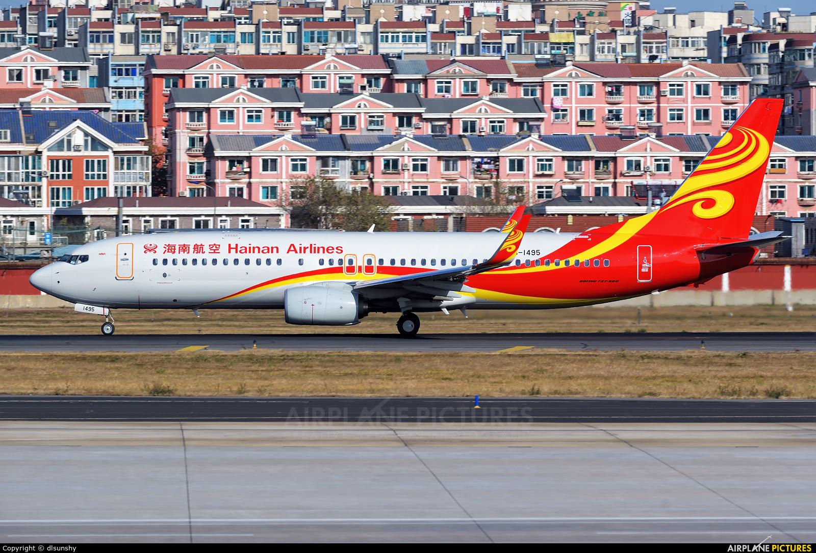 Hainan Airlines B-1495 aircraft at Dalian Zhoushuizi Int'l