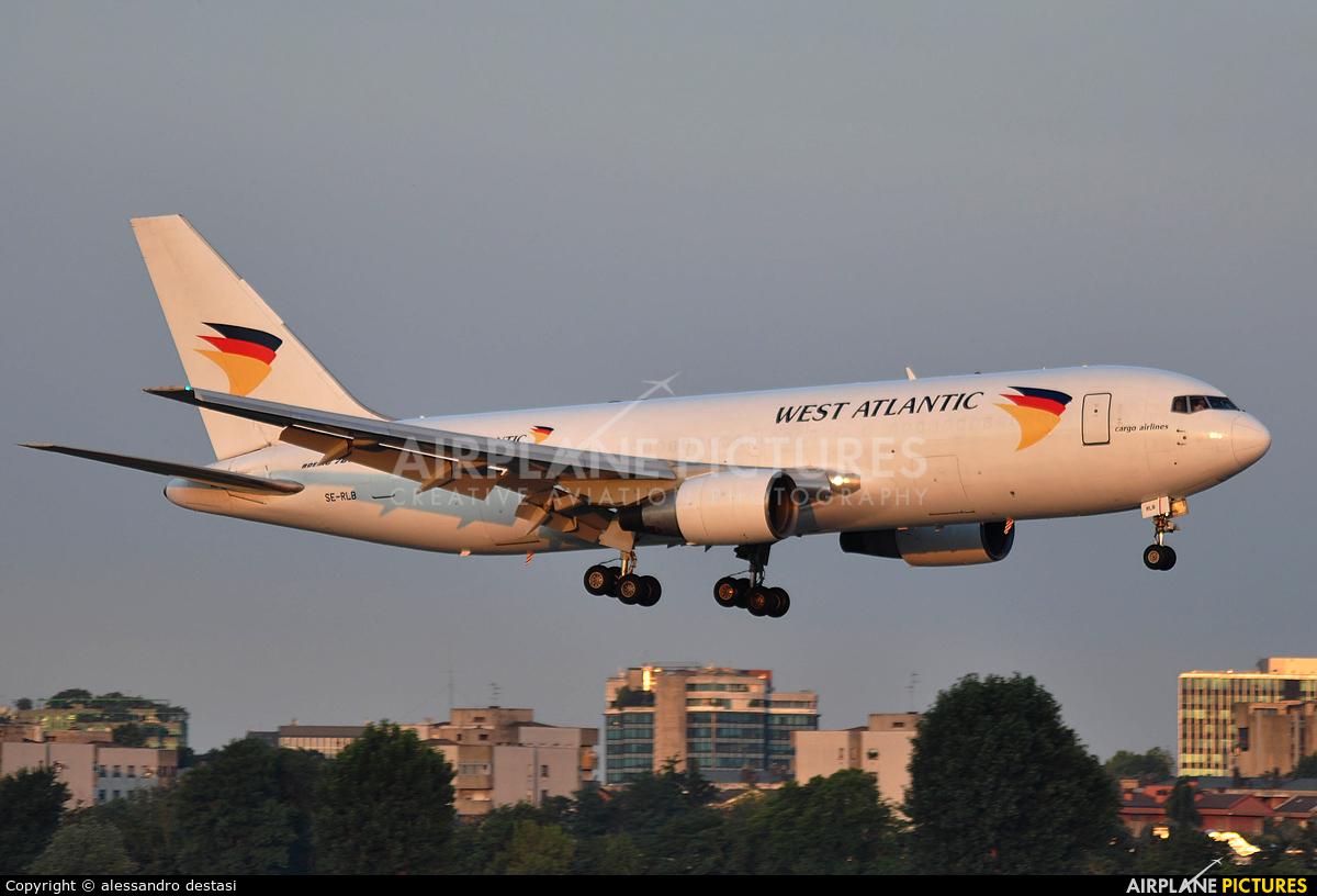 West Atlantic SE-RLB aircraft at Milan - Linate