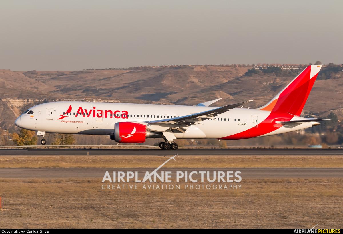 Avianca N794AV aircraft at Madrid - Barajas