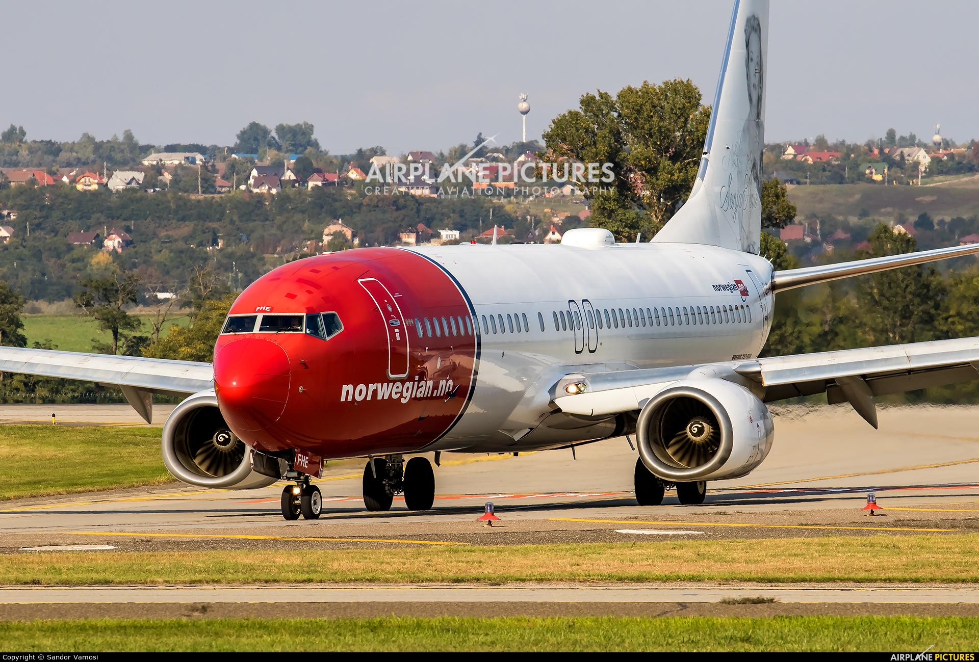 Norwegian Air Shuttle EI-FHE aircraft at Budapest Ferenc Liszt International Airport