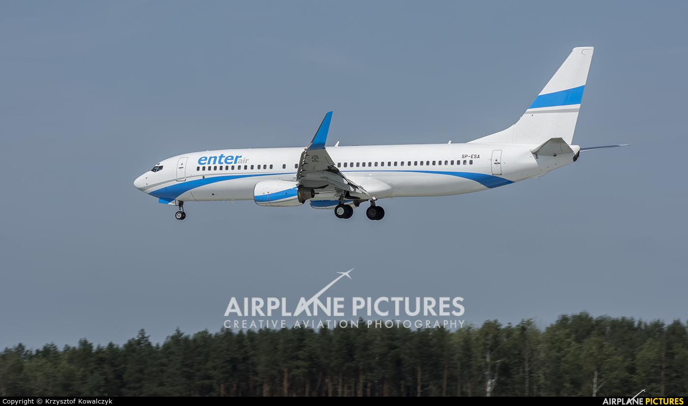 Enter Air SP-ESA aircraft at Katowice - Pyrzowice