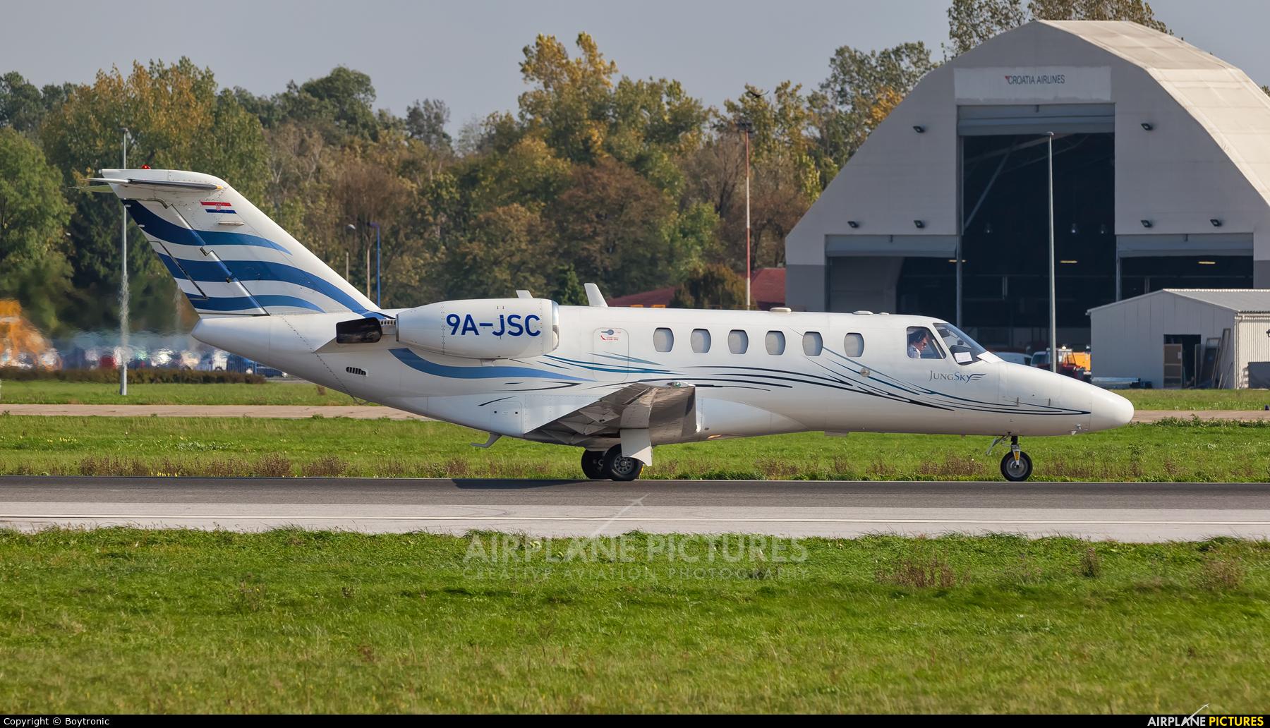 Jung Sky 9A-JSC aircraft at Zagreb