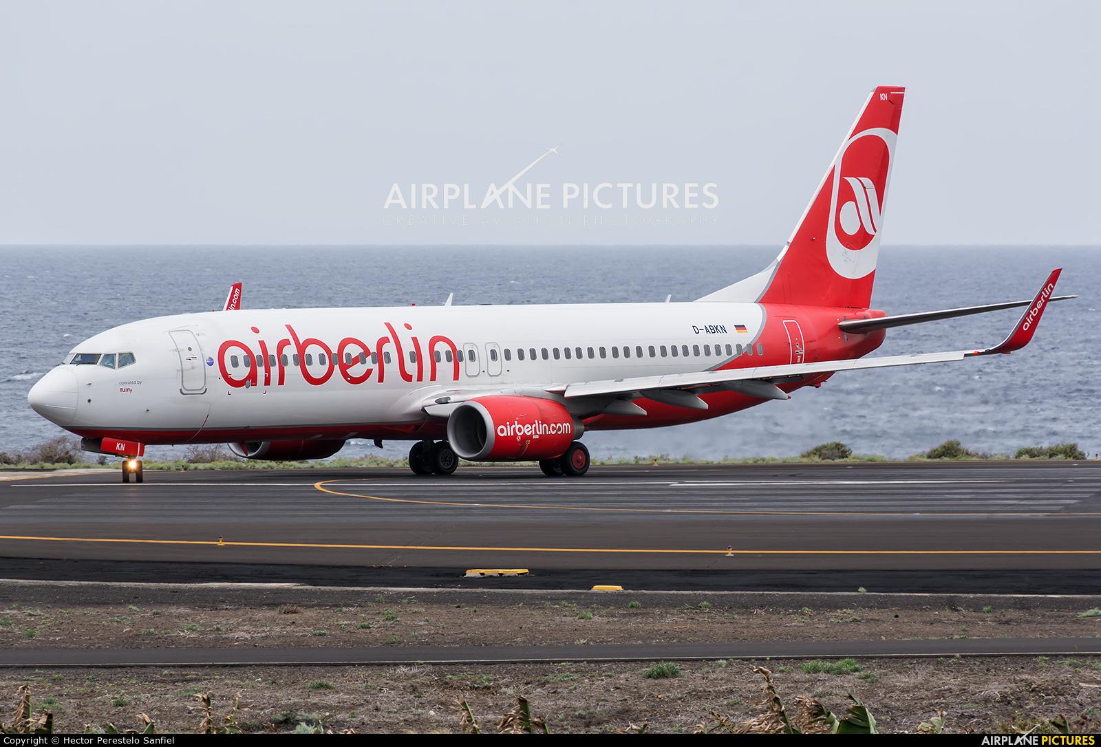Air Berlin D-ABKN aircraft at Santa Cruz de La Palma