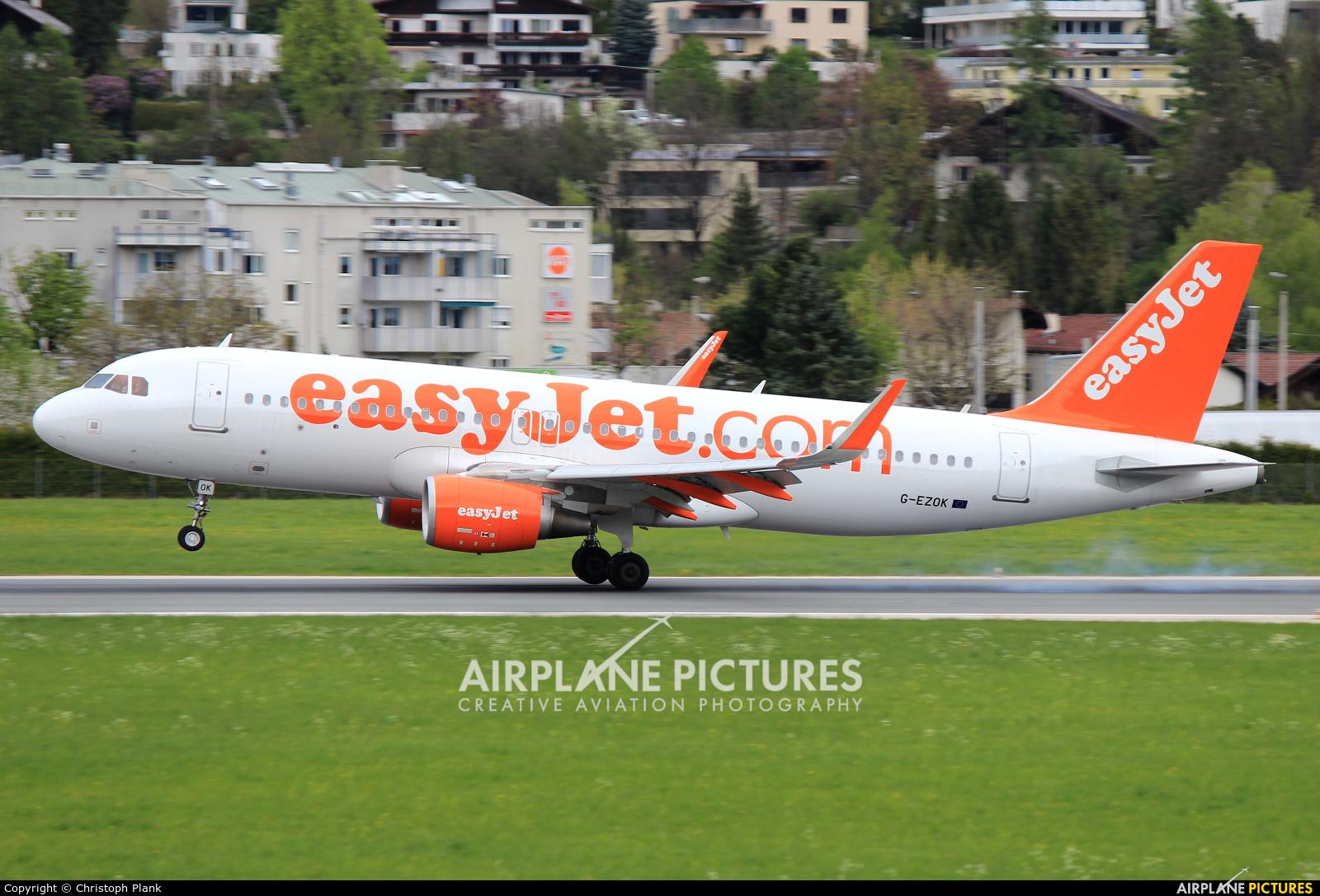 easyJet G-EZOK aircraft at Innsbruck