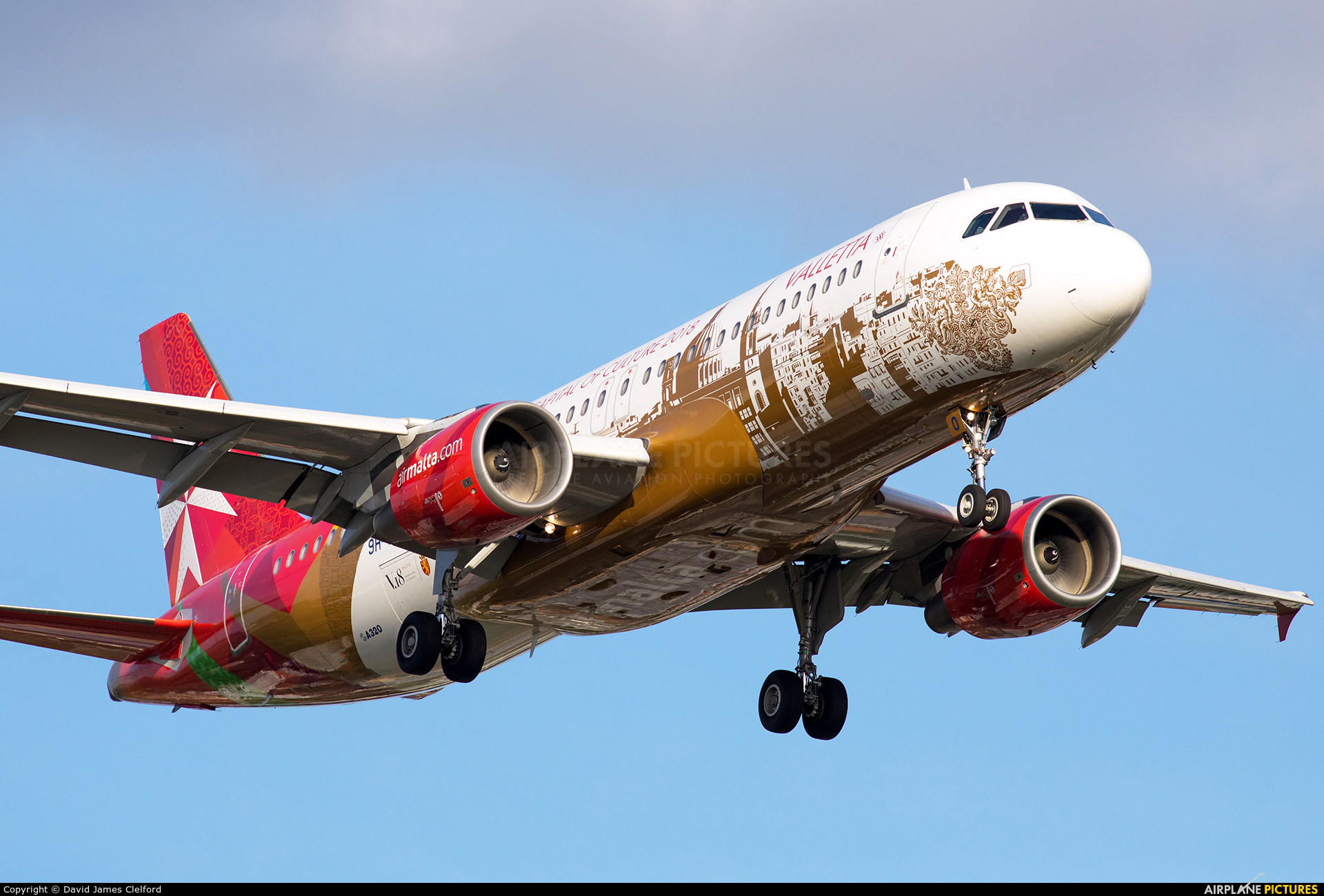 Air Malta 9H-AEO aircraft at London - Heathrow