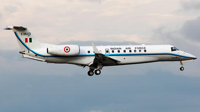 K3603 - India - Air Force Embraer EMB-135BJ Legacy 600