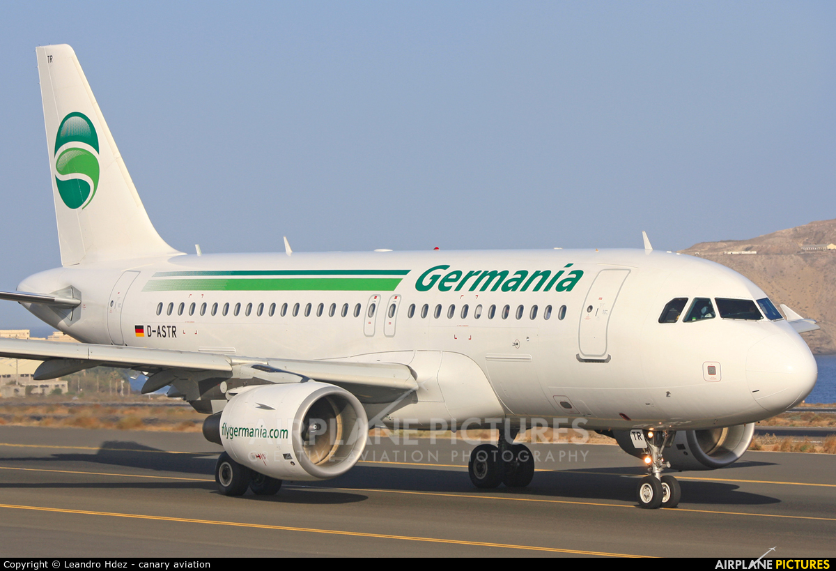 Germania D-ASTR aircraft at Aeropuerto de Gran Canaria