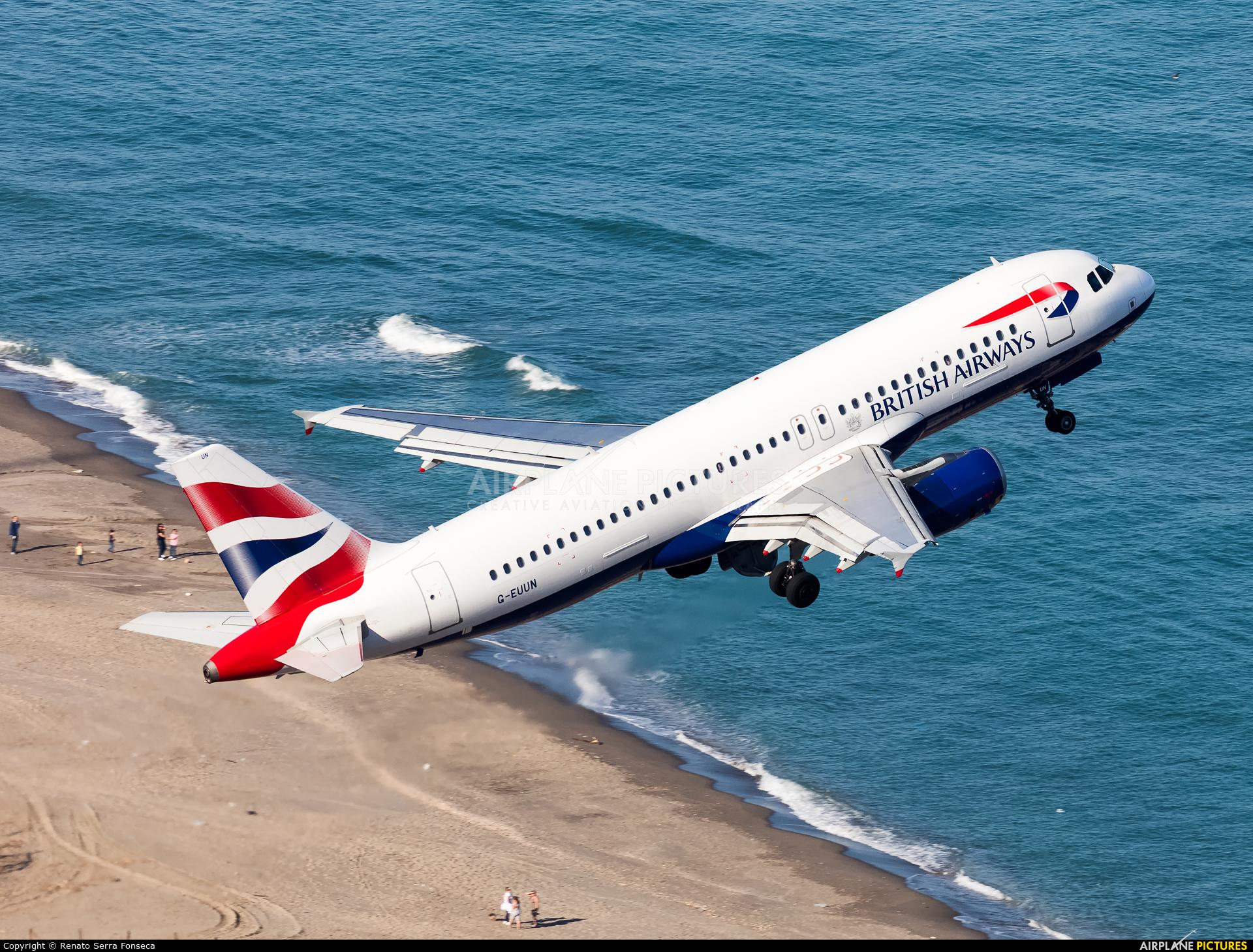 British Airways G-EUUN aircraft at Gibraltar