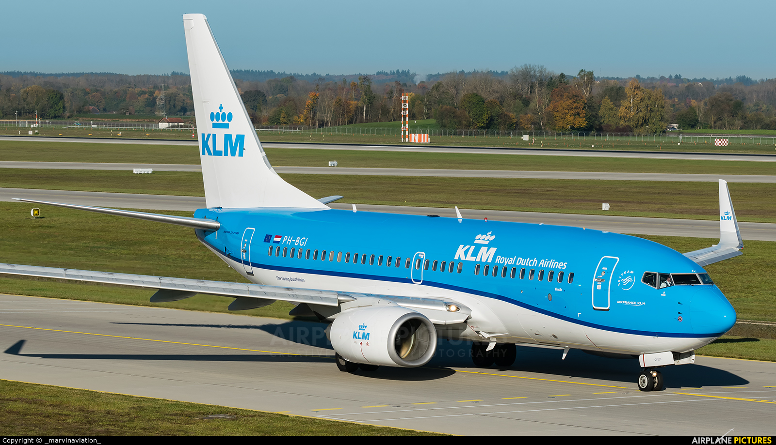 KLM PH-BGI aircraft at Munich
