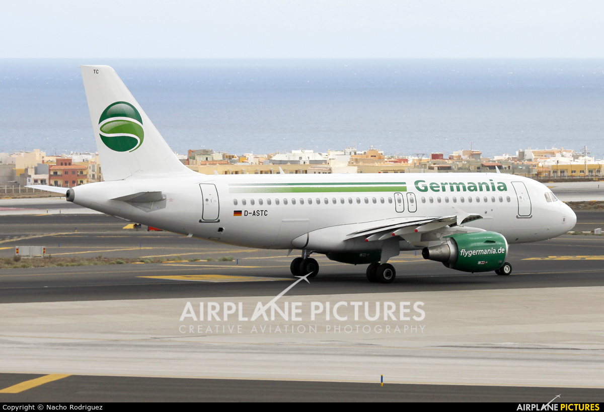 Germania D-ASTC aircraft at Tenerife Sur - Reina Sofia