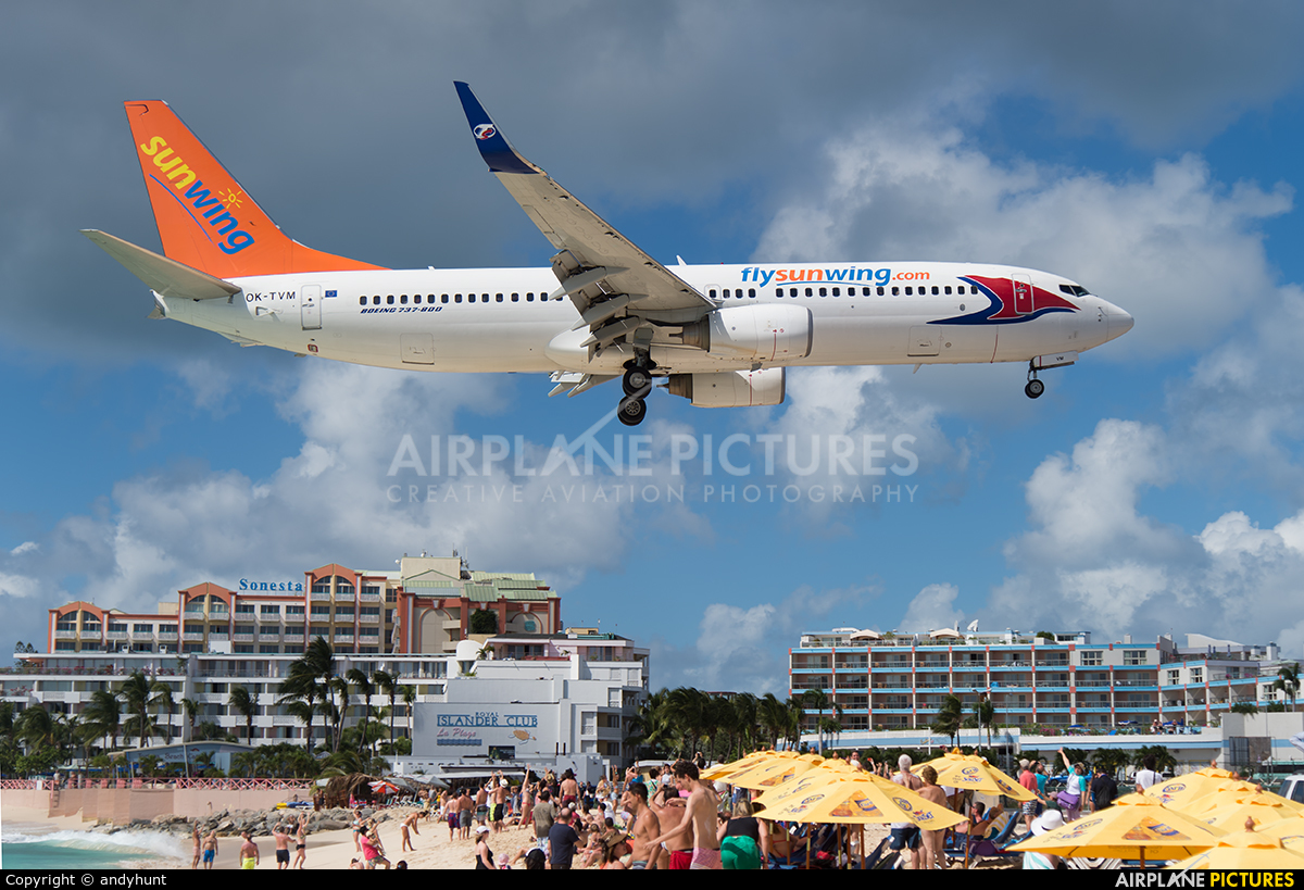 Sunwing Airlines OK-TVM aircraft at Sint Maarten - Princess Juliana Intl