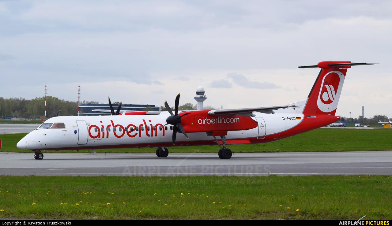 Air Berlin D-ABQO aircraft at Warsaw - Frederic Chopin