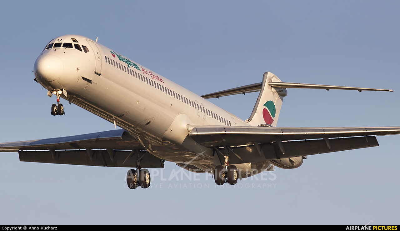 Bulgarian Air Charter LZ-LDU aircraft at Warsaw - Frederic Chopin