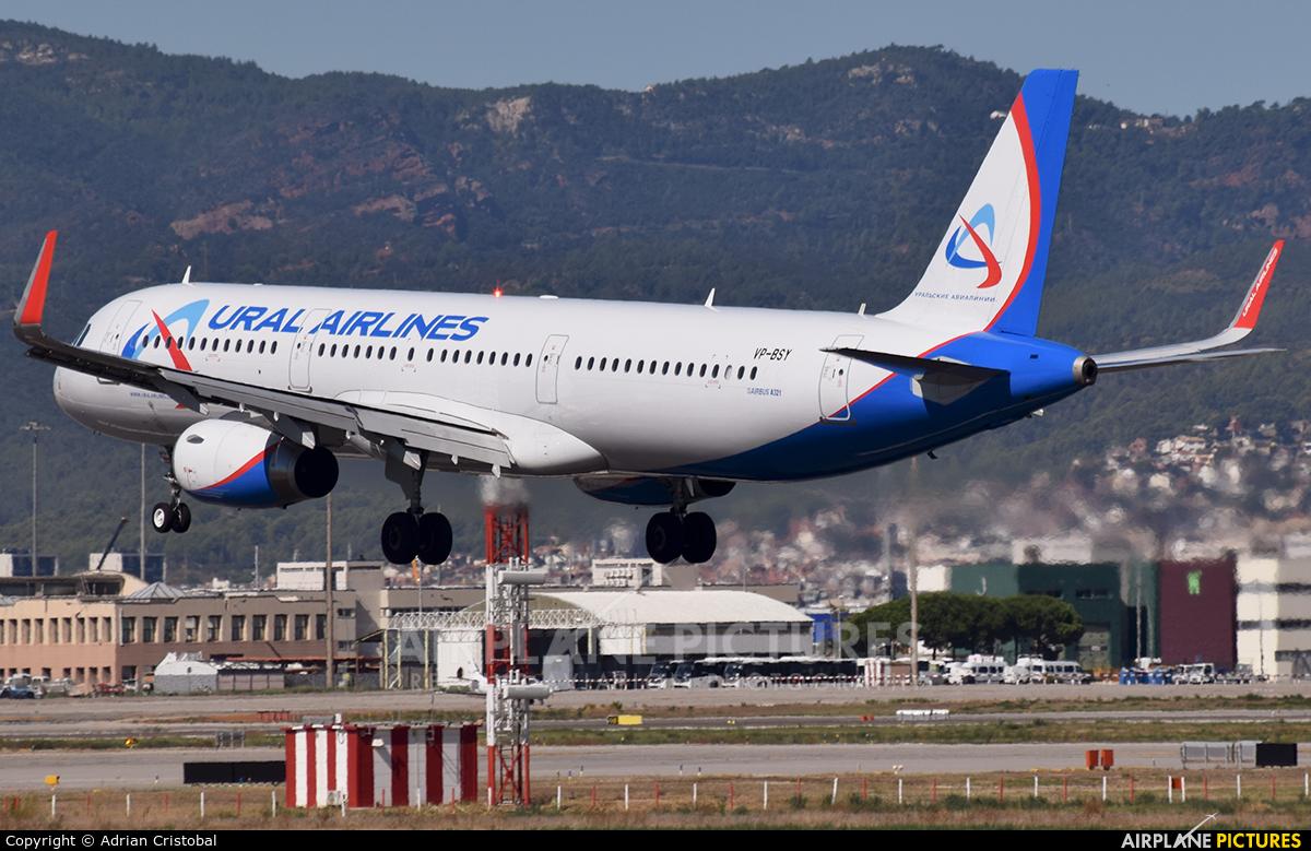 Ural Airlines VP-BSY aircraft at Barcelona - El Prat