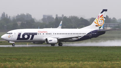 SP-LLE - LOT Charters Boeing 737-400
