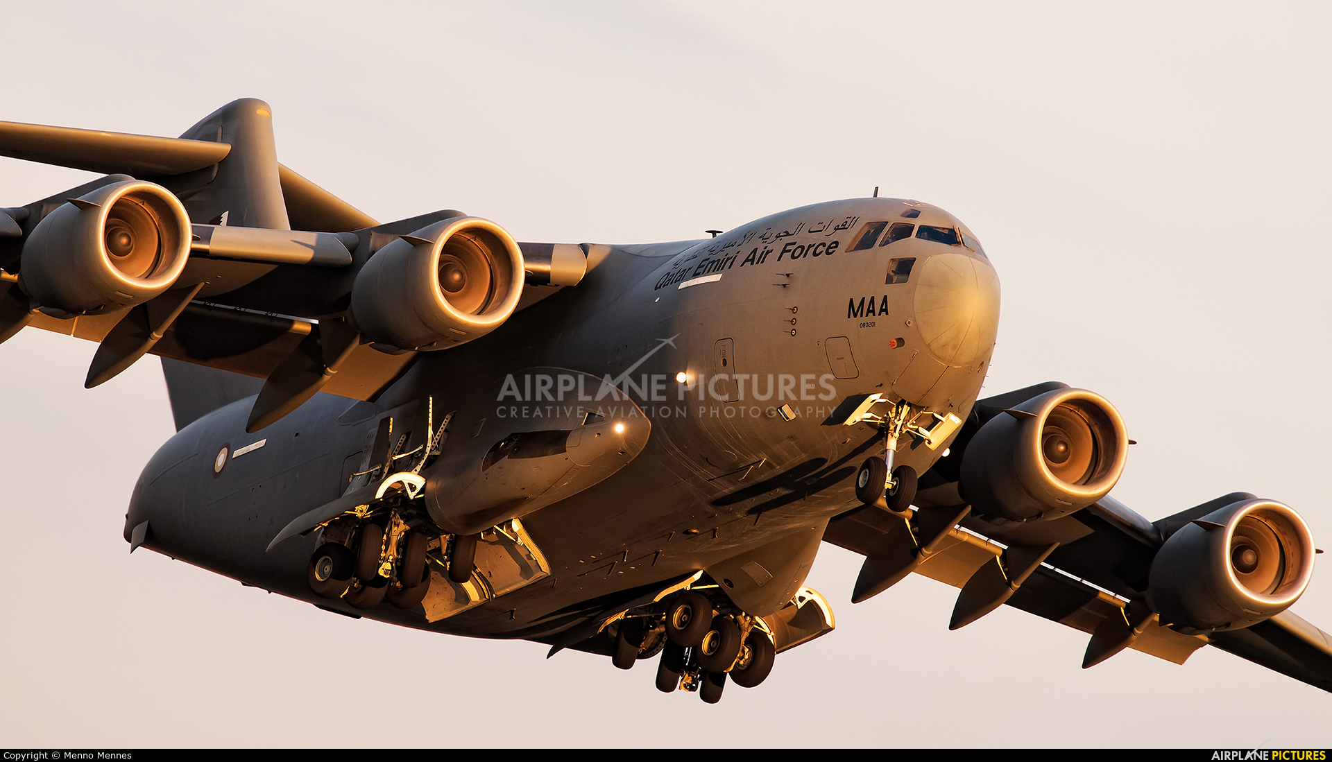 Qatar Amiri - Air Force A7-MAA aircraft at Amsterdam - Schiphol