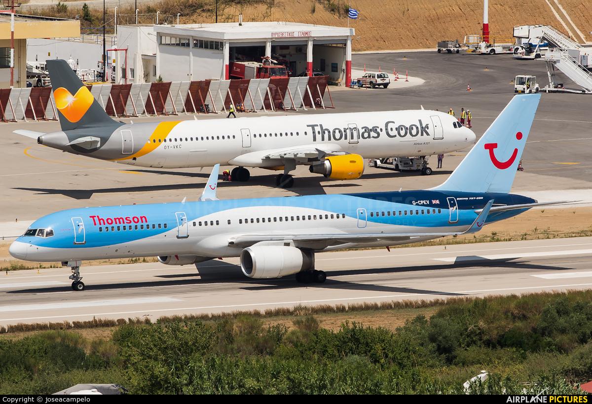 Thomson/Thomsonfly G-CPEV aircraft at Skiathos