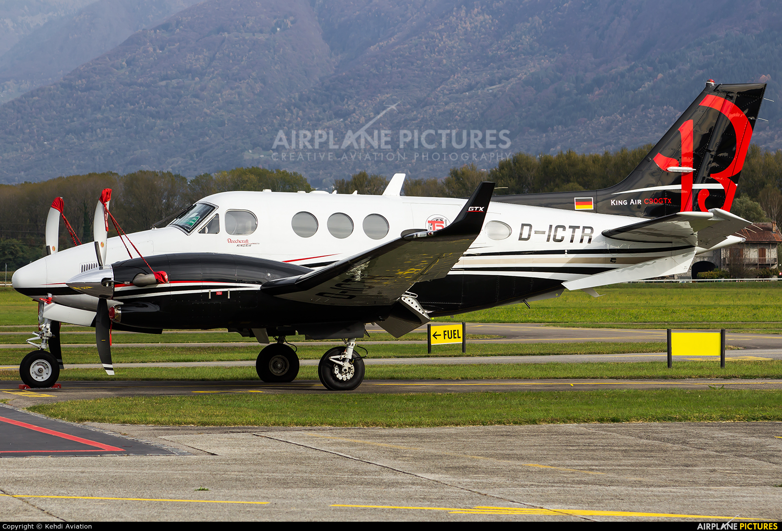 Private D-ICTR aircraft at Locarno