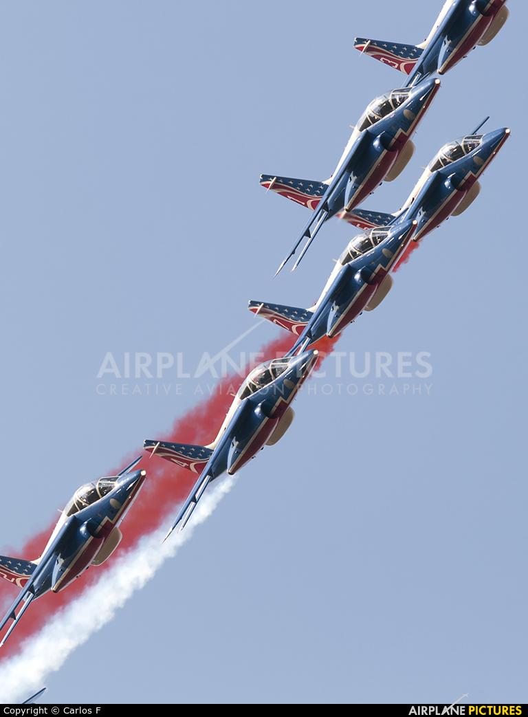 """France - Air Force """"Patrouille de France"""" E152 aircraft at Lleida - Alguaire"""