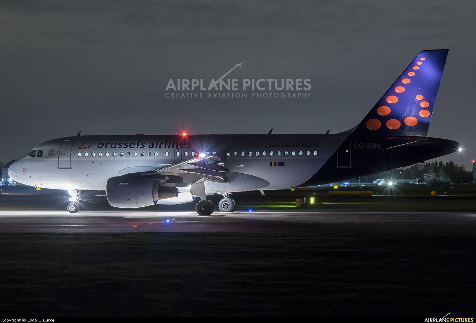 Brussels Airlines OO-SSM aircraft at Manchester