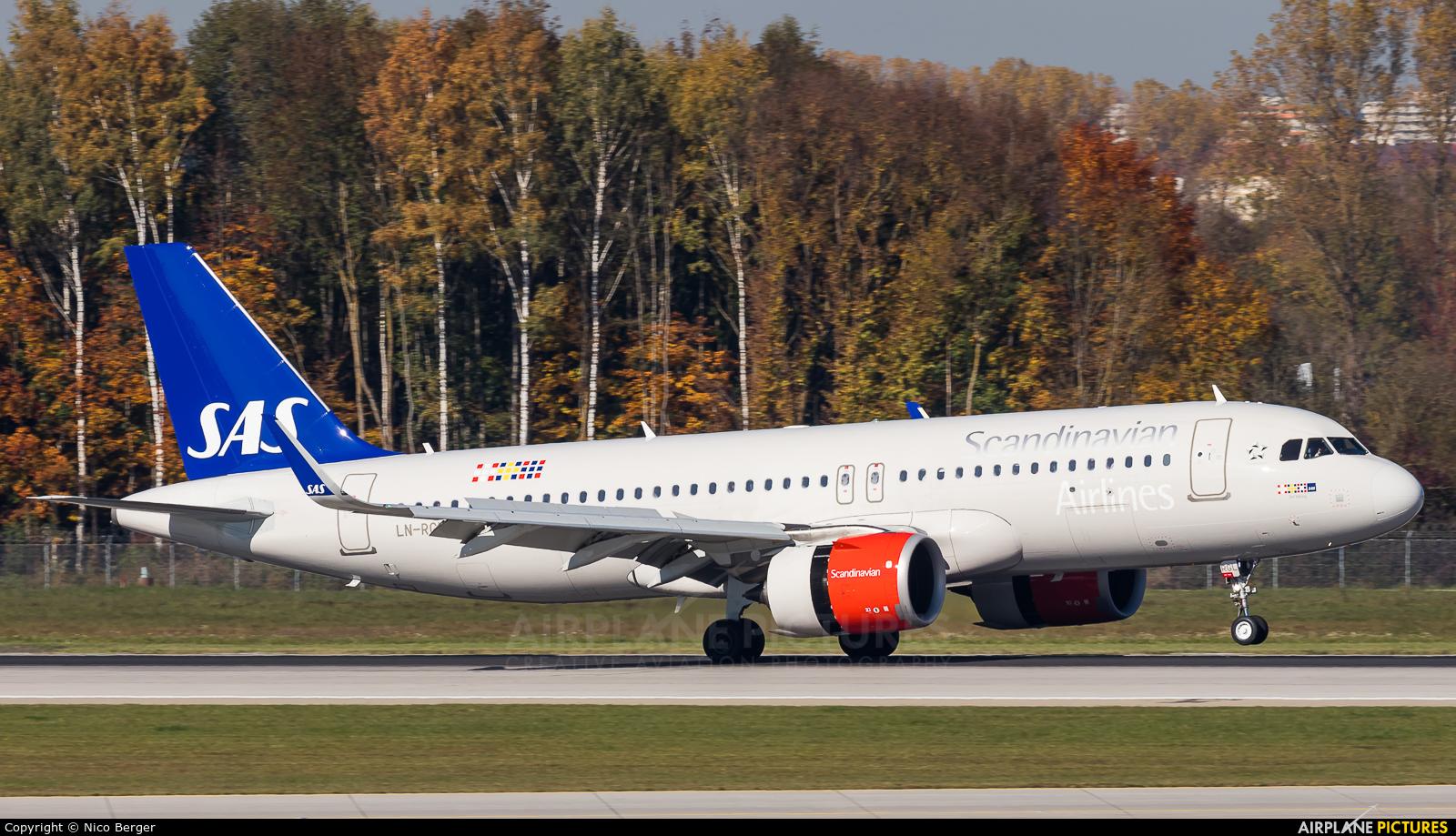 SAS - Scandinavian Airlines LN-RGL aircraft at Munich