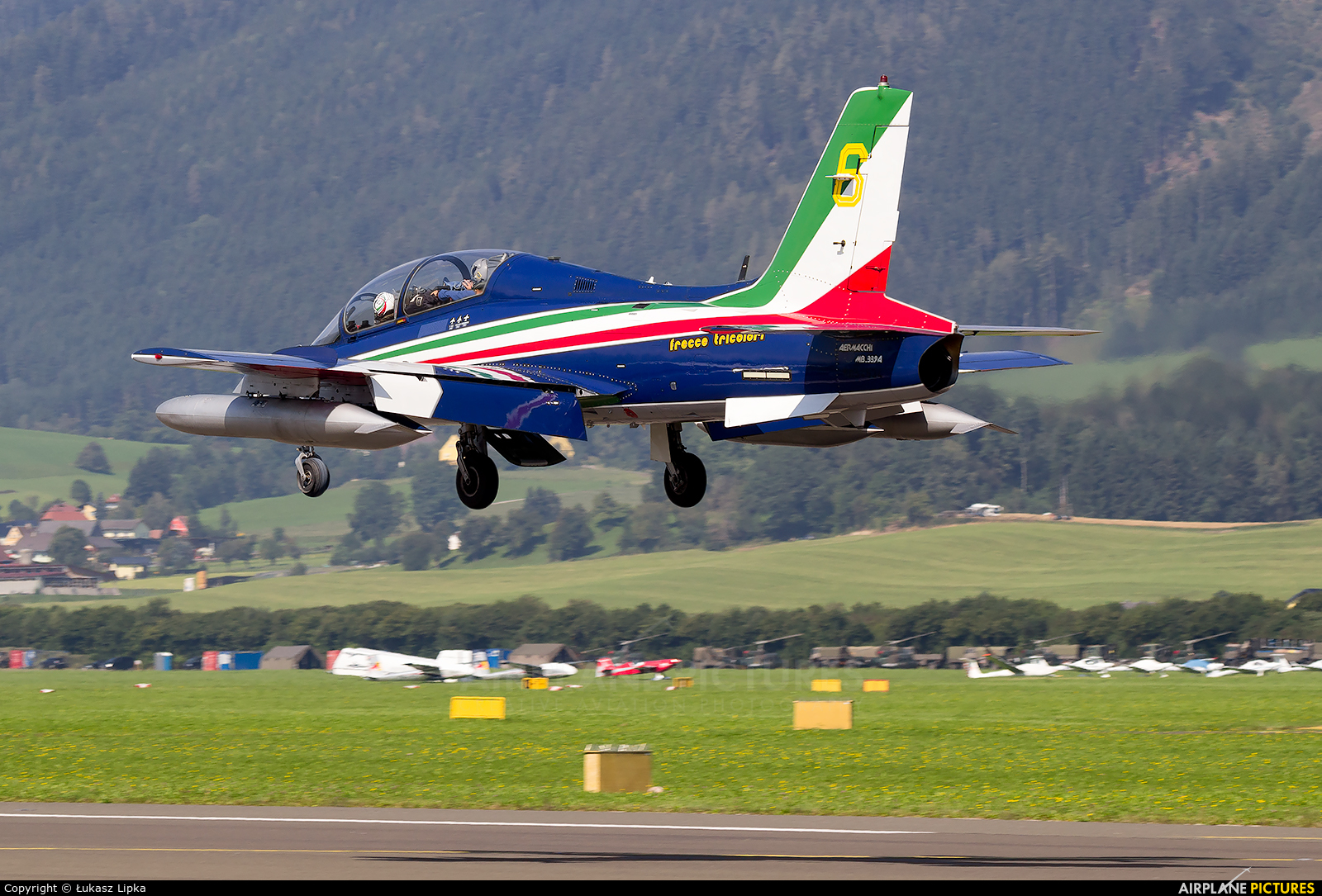 "Italy - Air Force ""Frecce Tricolori"" MM54534 aircraft at Zeltweg"