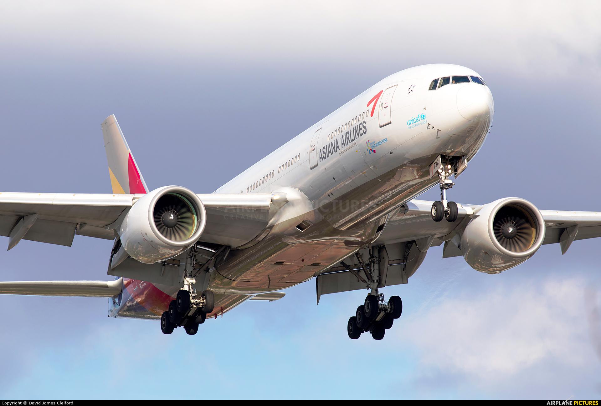 Asiana Airlines HL7732 aircraft at London - Heathrow