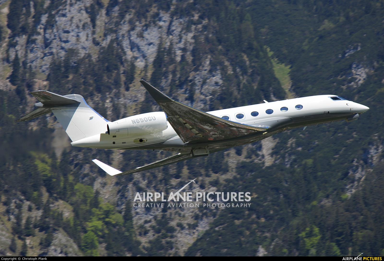 Private N650GU aircraft at Innsbruck