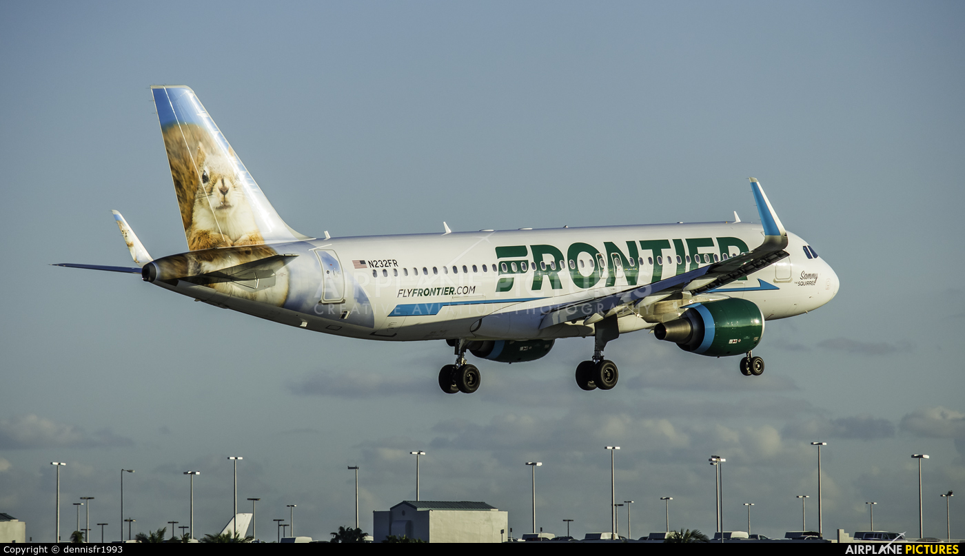 Frontier Airlines N232FR aircraft at Miami Intl