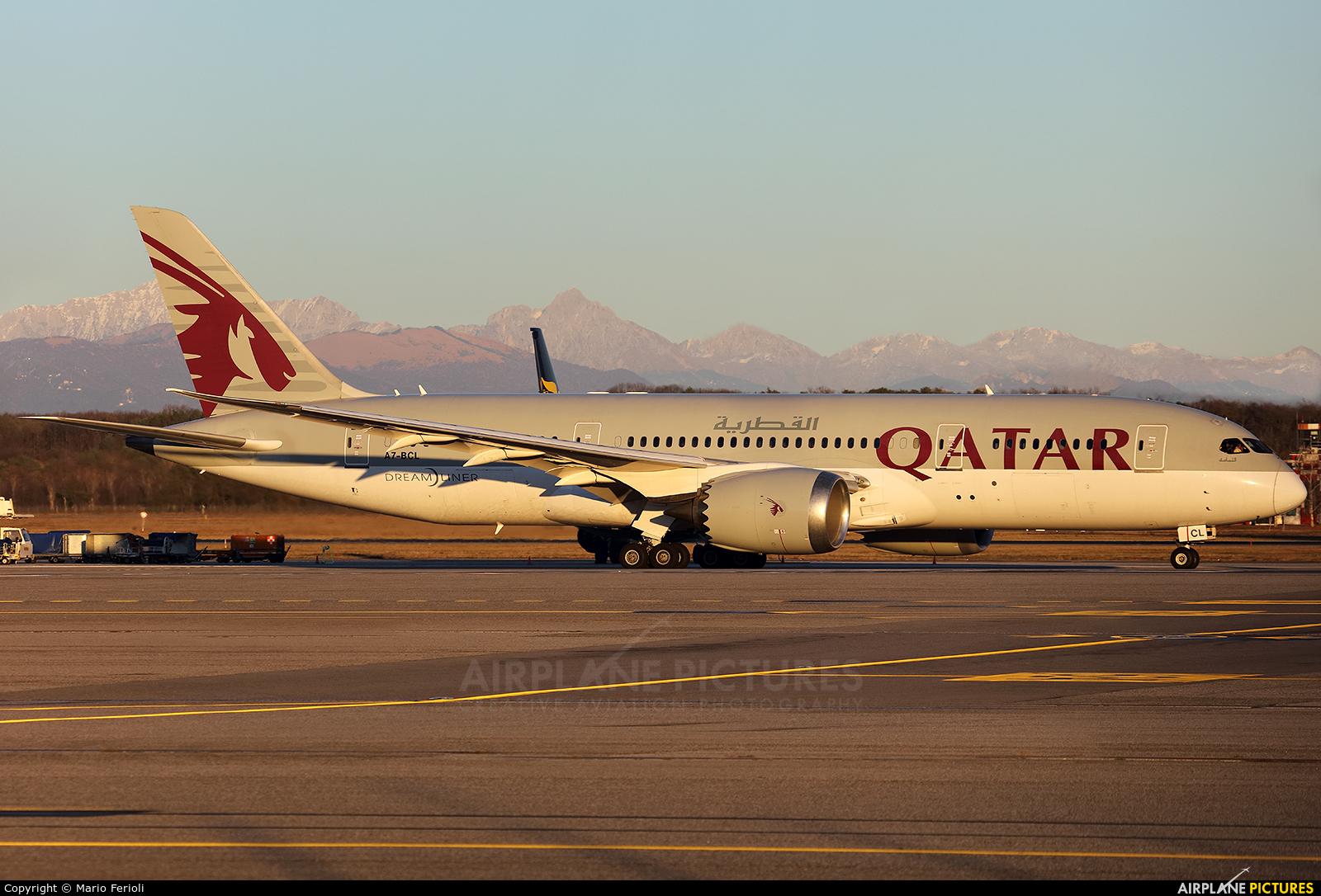 Qatar Airways A7-BCL aircraft at Milan - Malpensa